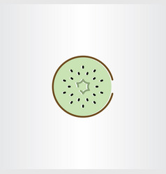 Kiwi icon symbol element vector