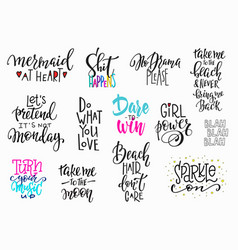 lettering photography overlay set vector image vector image