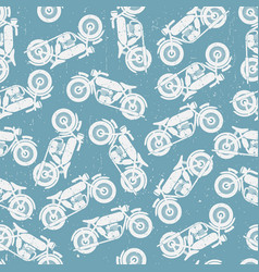 motorcycle seamless pattern vector image