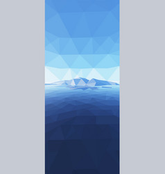 Mountains background with sun in glacier vector