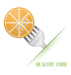 Orange healthy food diet vector