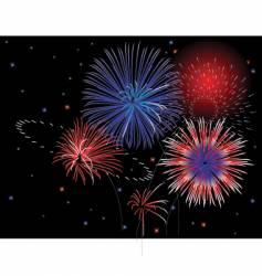 patriotic fireworks vector image vector image