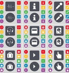 Pulse information microphone headphones calendar vector