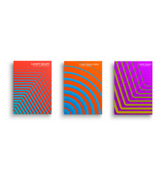 set of geometric covers vector image