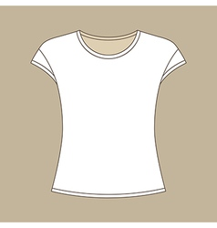Sleeveless shirt vector
