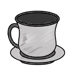 Tea cup icon vector
