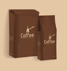 Vacuum package of coffee vector