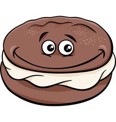 Whoopie pie cartoon vector