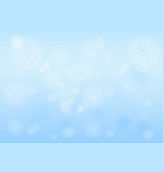 winter bokeh abstract light background with vector image