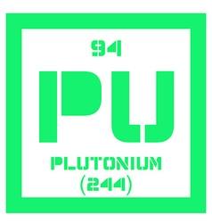 Plutonium chemical element vector