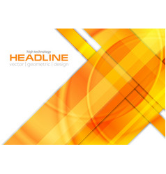 Orange glossy tech corporate background vector