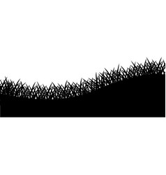 grass black silhouette nature plant and field vector image