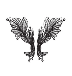 Engraving tattoo blackwork ornament vector