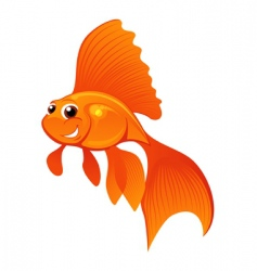 Happy goldfish vector