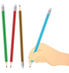 Pencil writing vector