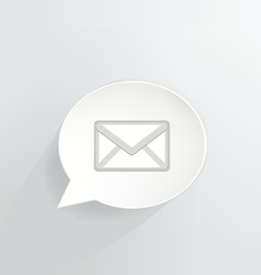 Mail bubble vector