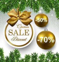 Sale round christmas balls vector