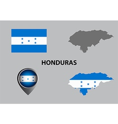 Map of honduras and symbol vector