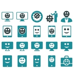 Tools options smiles displays devices icons vector