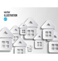 background of white abstract house vector image
