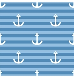 Tile sailor pattern with white anchor on navy blue vector