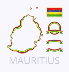 Colors of mauritius vector