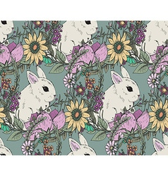 Ector floral seamless pattern with hand drawn vector