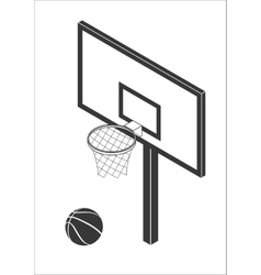 Basketball backboard icon vector