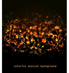 Colorful musical background vector