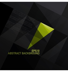 Abstract triangle black background vector