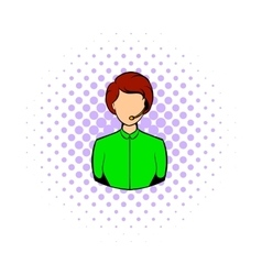 Avatar comics girl icon vector image vector image
