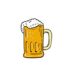 Beer mug drawing vector