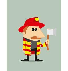 Cartoon fireman vector