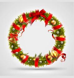 christmas font letter o of christmas tree vector image