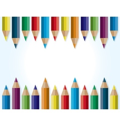 Colorful Pencils Border Background vector image vector image
