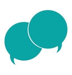 Conversation bubbles icon vector