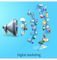Digital marketing concept flat banner vector