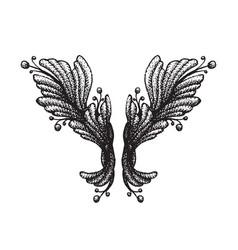 engraving tattoo blackwork ornament vector image vector image