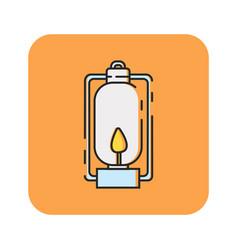Flat color lantern icon vector