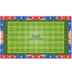 Flat object design set soccer stadium top view vector