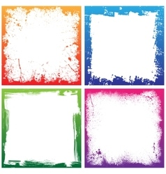 Four color frames vector