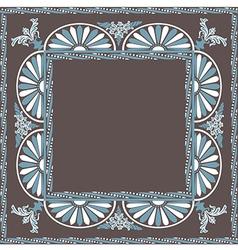 Frame pattern blue white vector