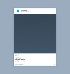 Frame template for instagram applications vector
