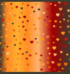 Glowing chaotic heart pattern seamless background vector
