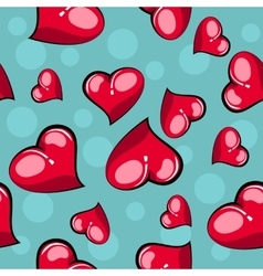 Heart Seamless Background vector image vector image