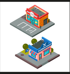 isometric buildings vector image