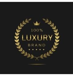 Luxury brand label vector