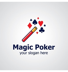 magic poker logo vector image vector image