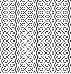 monocrome seamless linear flourish pattern for vector image