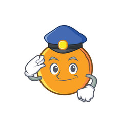 Police orange fruit cartoon character vector